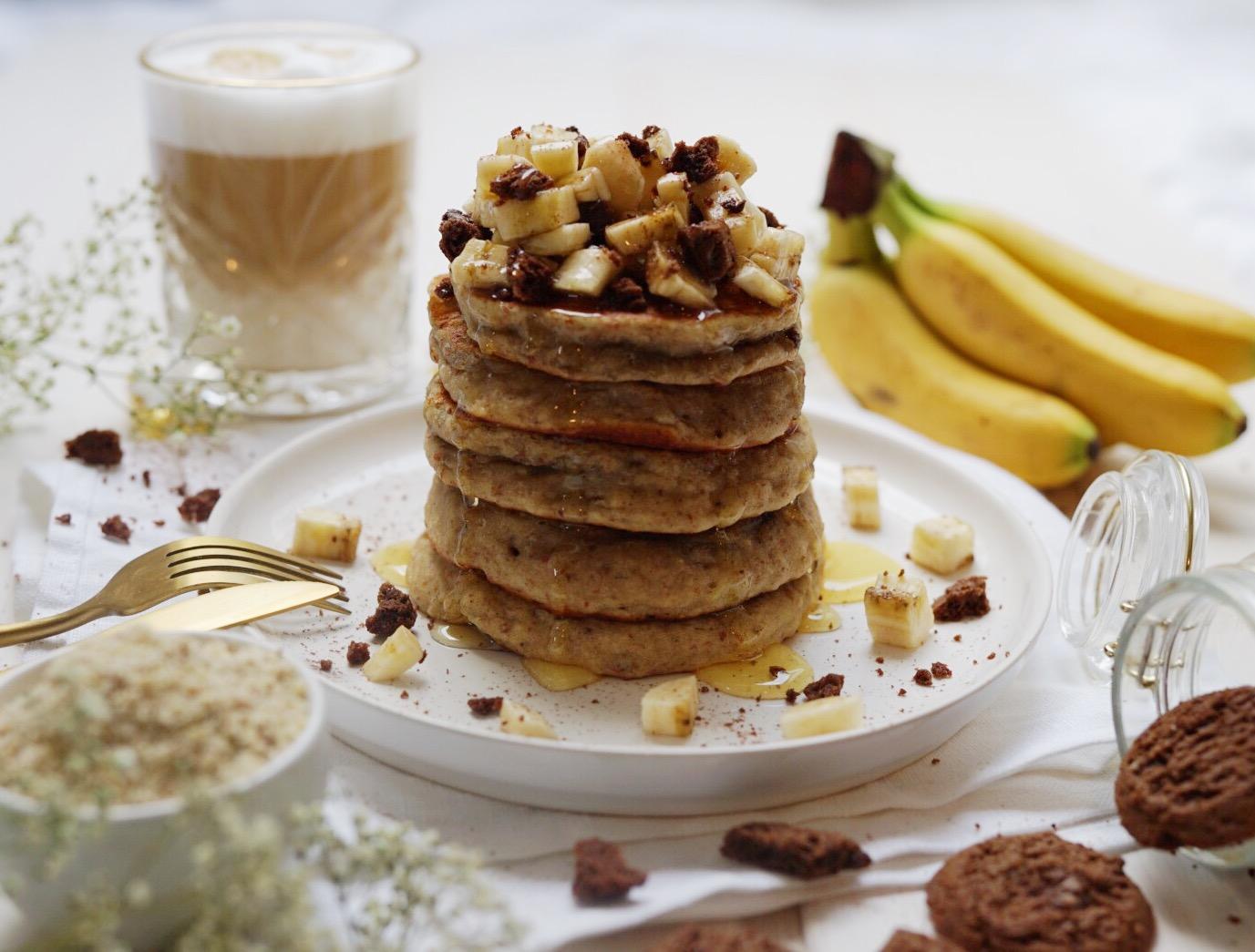 Bananenpancakes mit Nussnougat Kern