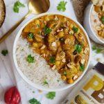 Erdnuss-Curry mit Reis   Muskelmacher-Shop