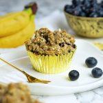 Low Sugar Blaubeer Bananen Muffins| Muskelmacher-Shop