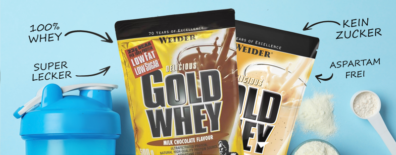 Jetzt das Weider Gold Whey Protein bestellen!