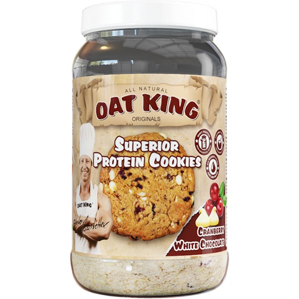 Oat King Superior Protein Cookies (Cranberry White Chocolate)