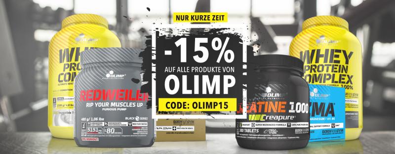15% Rabatt auf Olimp Supplements sparen