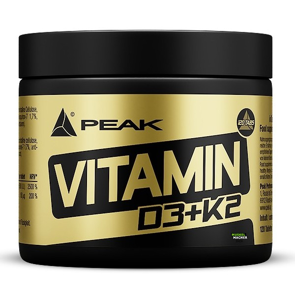 PEAK Vitamin D3+K2 (120 Tabletten)