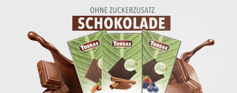 Torras Stevia Schokolade ohne Zucker bestellen