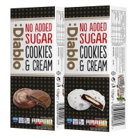 Diablo No Added Sugar Cookies & Cream White Chocolate