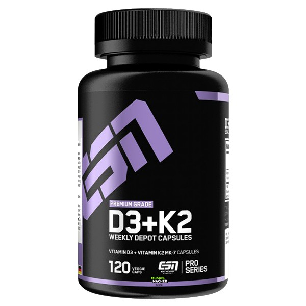 ESN Vitamin D3+K2 (120 Kapseln)
