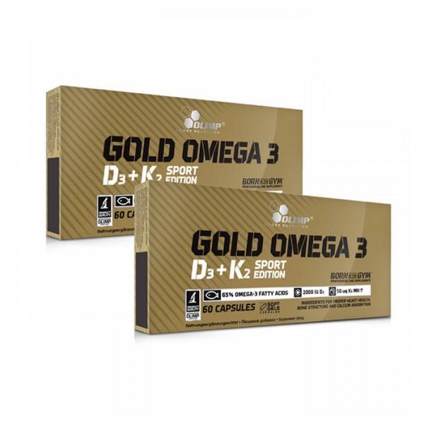 Olimp Gold Omega 3 D3+K2 Doppelpack