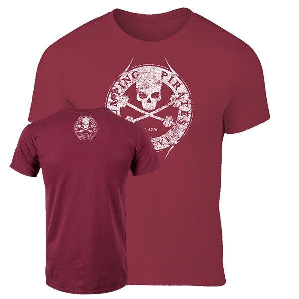 Pumping Pirates Basic Logo T-Shirt (Burgundy)