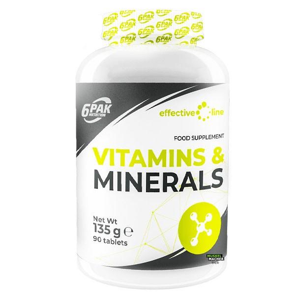 6Pak Nutrition Vitamins & Minerals (90 Tabletten)