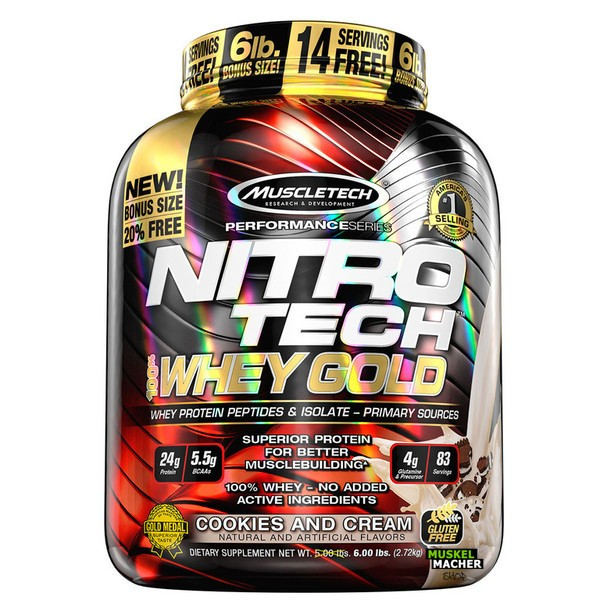 Muscletech Nitro Tech 100% Whey Gold 2270g Banana Bliss
