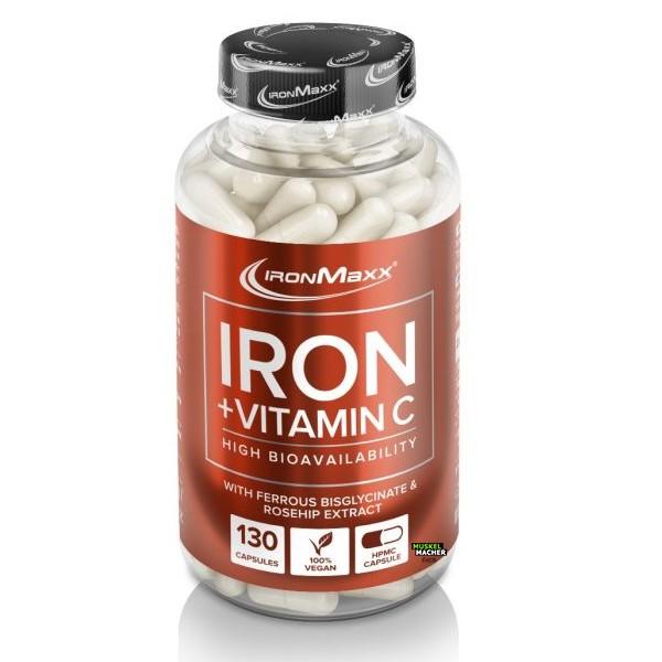 Ironmaxx Iron + Vitamin C (130 Kapseln)