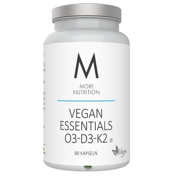 More Nutrition Vegan Essentials O3-D3-K2 (80 Kapseln)