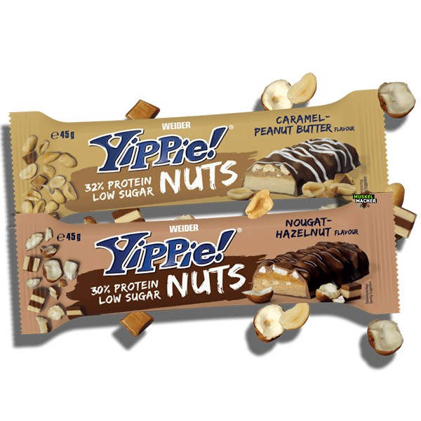Weider Yippie Protein Bar Nuts