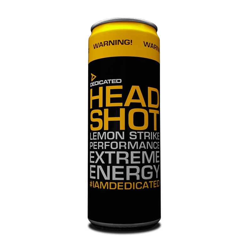 Dedicated Headshot Energy Drink (Lemon Strike)