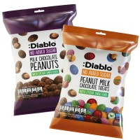 Diablo No Sugar Added Chocolate Peanuts Milk Chocolate Peanuts