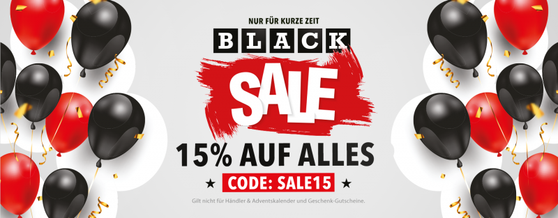 Black Friday Sale - 15% Rabatt
