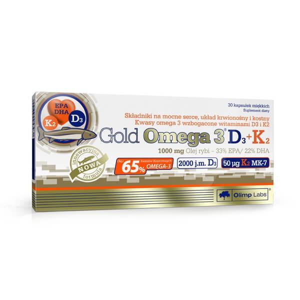 Olimp Gold Omega 3 D3+K2 (30 Kapseln)