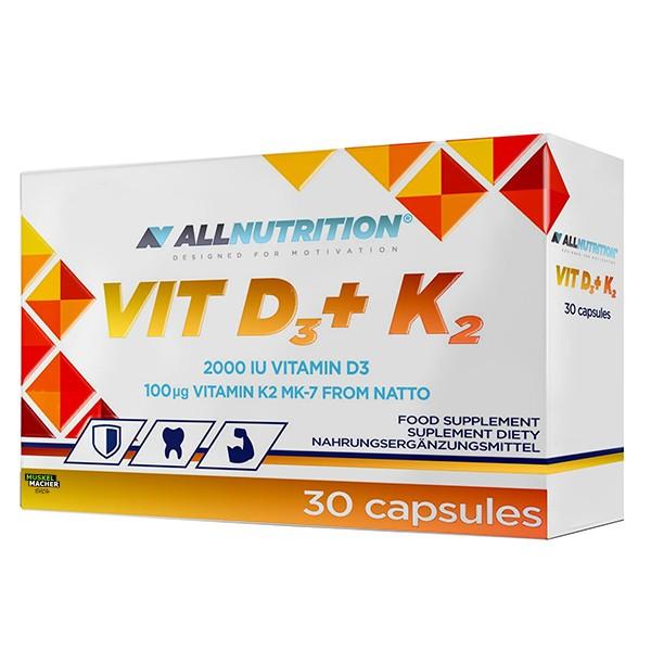 All Nutrition Vit D3 + K2 (30 Kapseln)