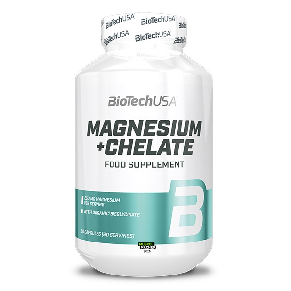 BioTech USA Magnesium + Chelate (60 Kapseln)