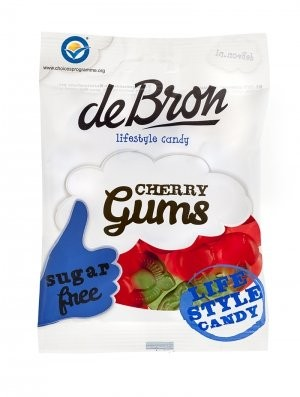 De Bron Cherry Gums zuckerfrei