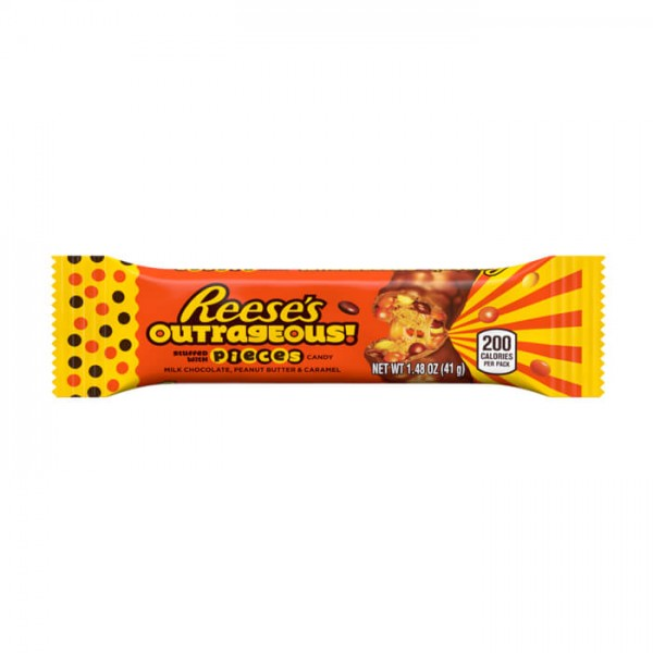 Reese's Outrageous stuffed with Pieces Candy