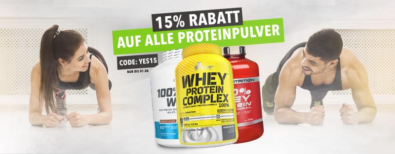 15% auf Protein sparen