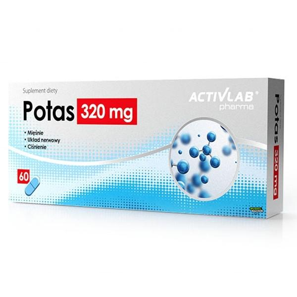 Activlab Potas Kalium 320 mg (60 Kapseln)