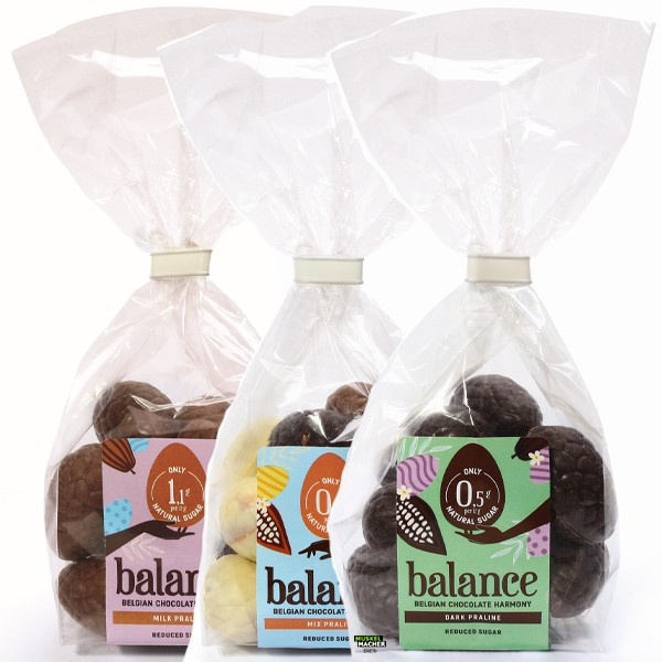 Balance Belgian Chocolate Reduced Sugar Ostereier