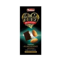 Torras Zero Schokolade (zuckerfrei) Weiße Schokolade mit Erdbeerstückchen