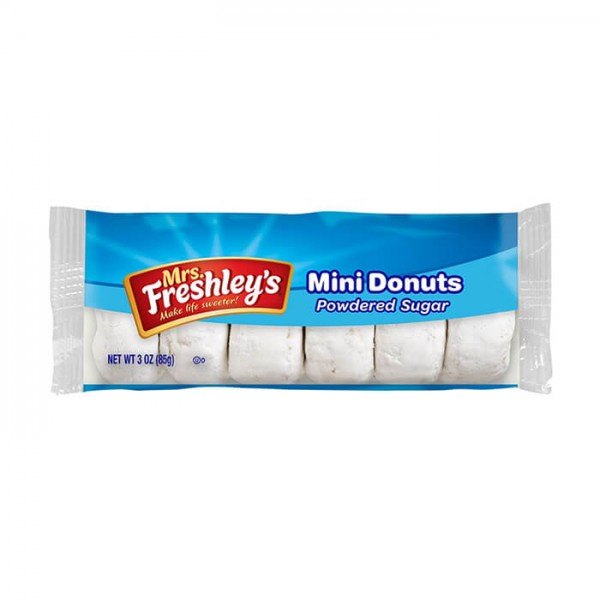 Mrs. Freshley's Mini Donuts Powdered Sugar