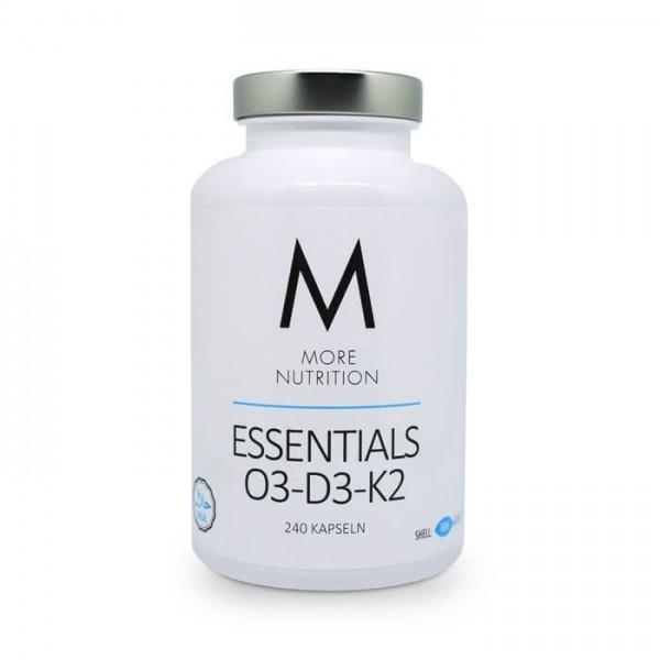 More Nutrition Essentials O3-D3-K2 (240 Fischgelatine-Kapseln)